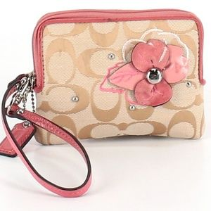 Coach Floral Wristlet / Wallet